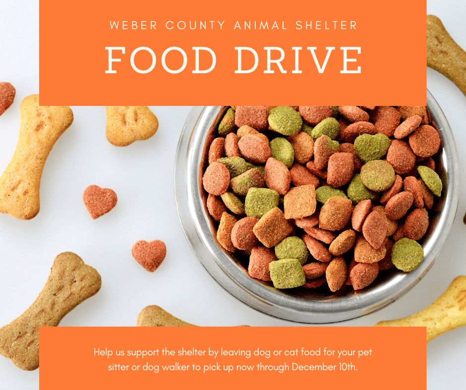 Weber County Animal Shelter Food Drive