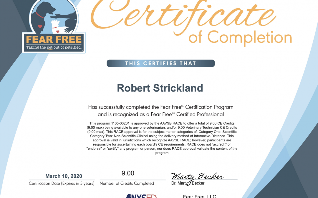 Fear-Free Certification